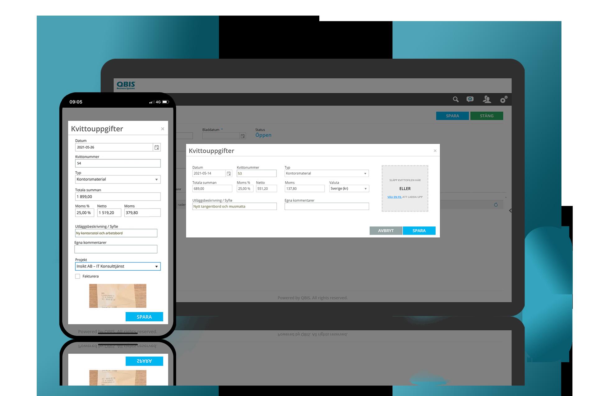 Använd QBIS kostnadshantering och registrera representationen