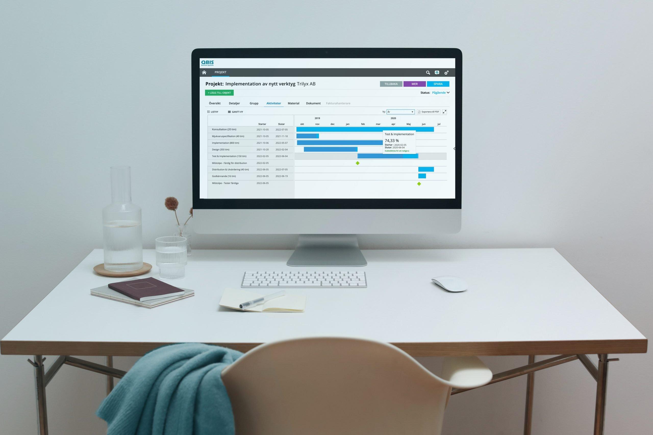 Planera ditt projekt med GANTT schema och få klarhet i alla aktiviteter