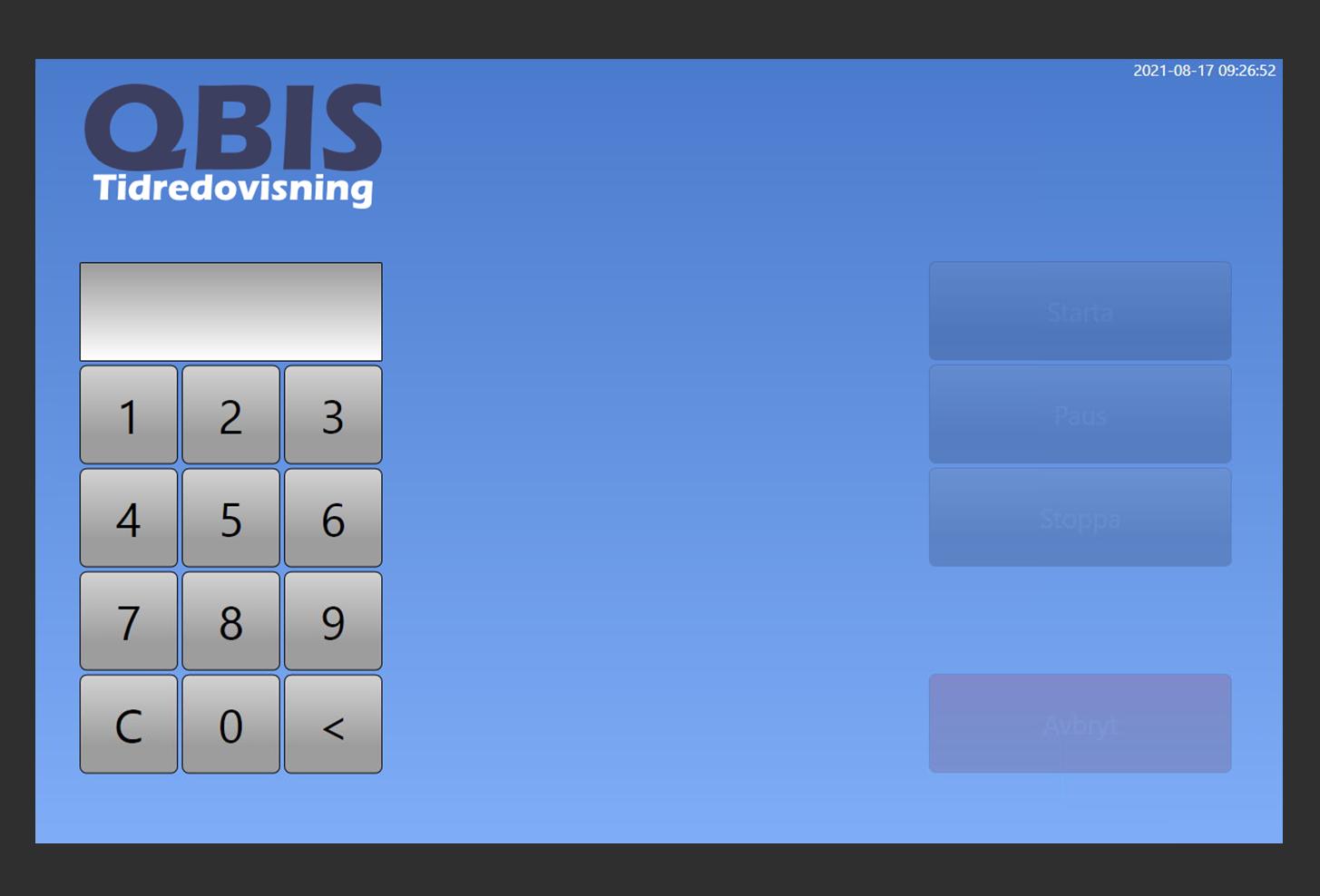Tidsrapporteringssystem- QBIS Stämpelklocka